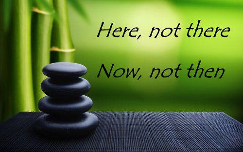 Hier, niet daar. Nu, niet dan. #hier #nu thuisinmijnlichaam.nl