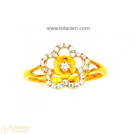 22K Gold Ring For Women with Cz 235 GR4223 Buy this Latest