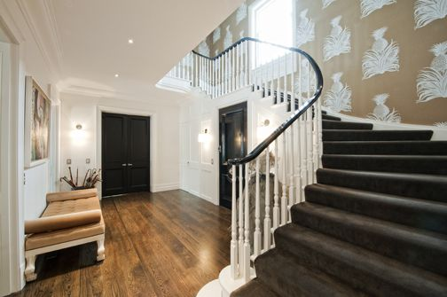 Best Mdf Painted Carpet Continuous Handrail Stained 400 x 300