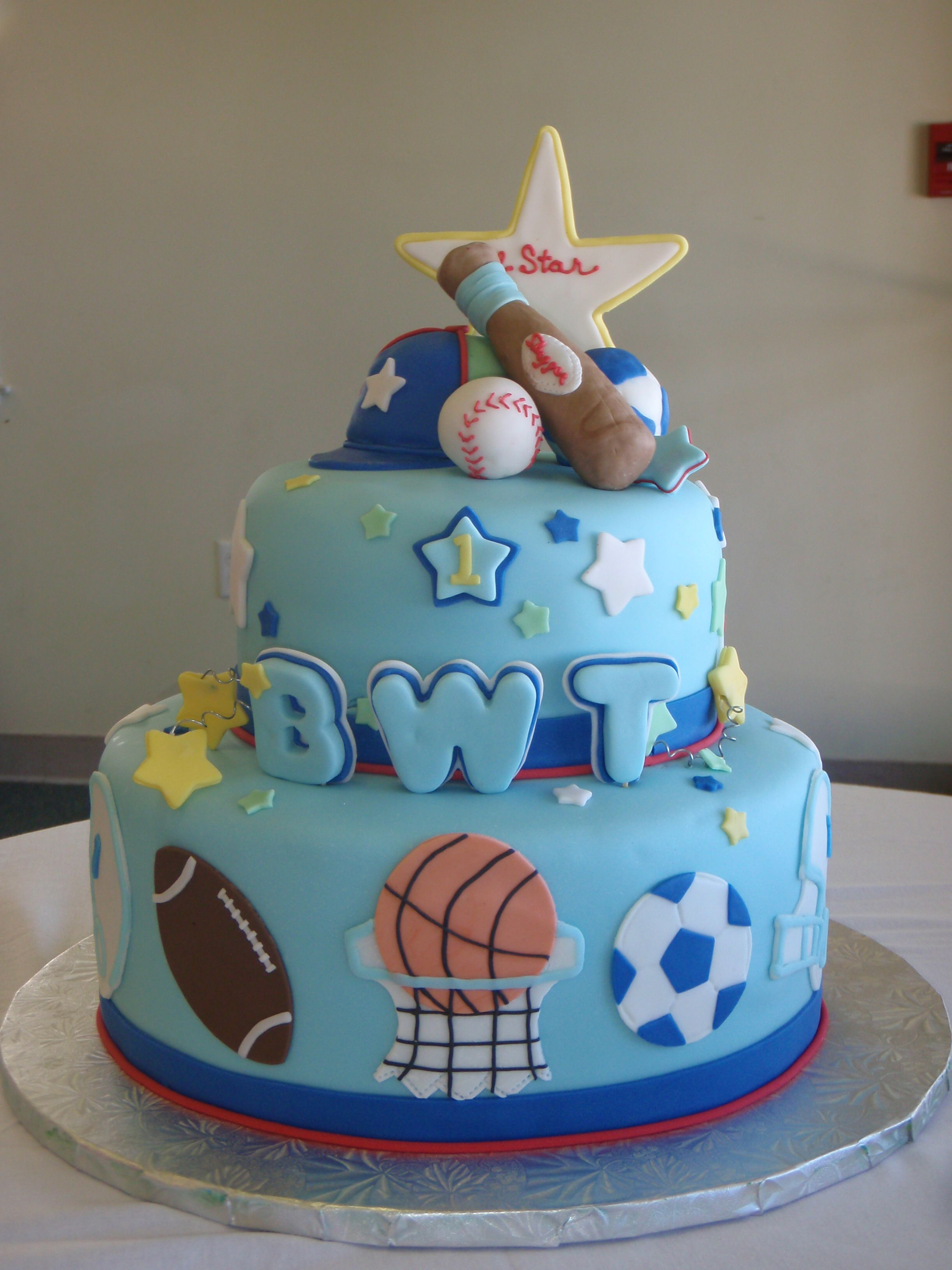 Baby boy sports cake  Wedding and other Cakes  Pinterest