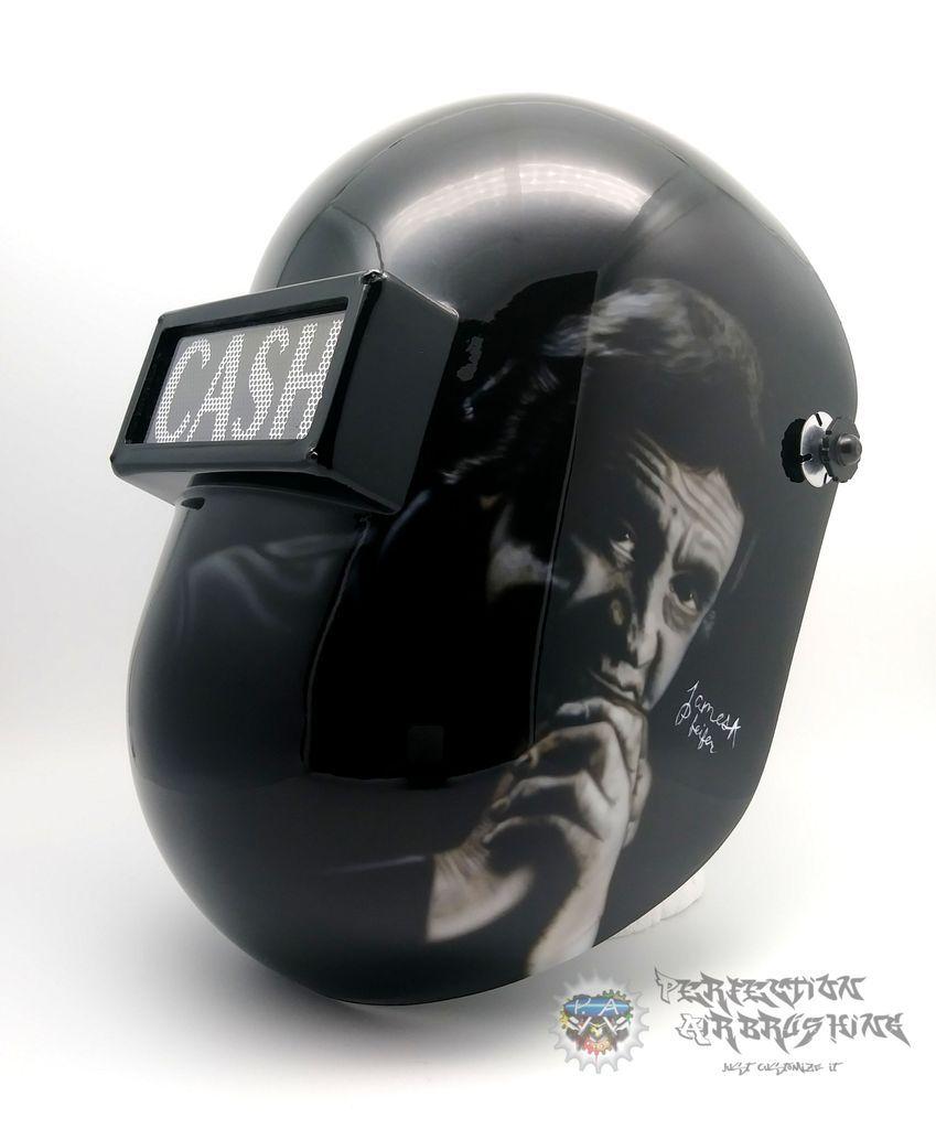 Johnny Cash 2 Themed Welding Helmet Welding Helmet Welding Johnny Cash