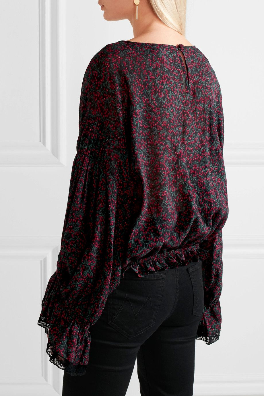 Chloé | Printed cotton and silk-blend georgette blouse | NET-A-PORTER.COM