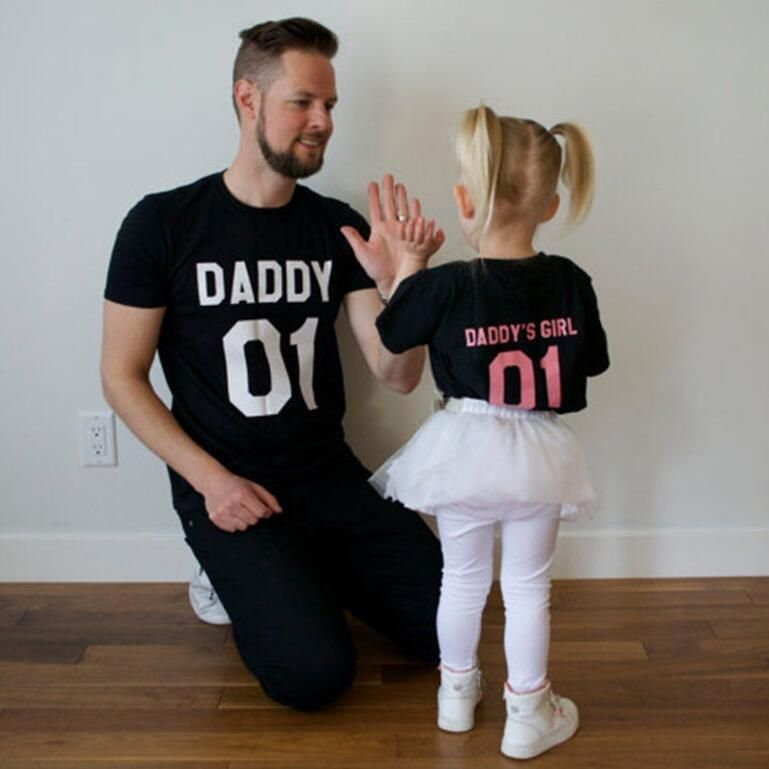 2017 summer family matching clothes father and daughter matching T-shirt clothes letter short sleeve family matching outfits