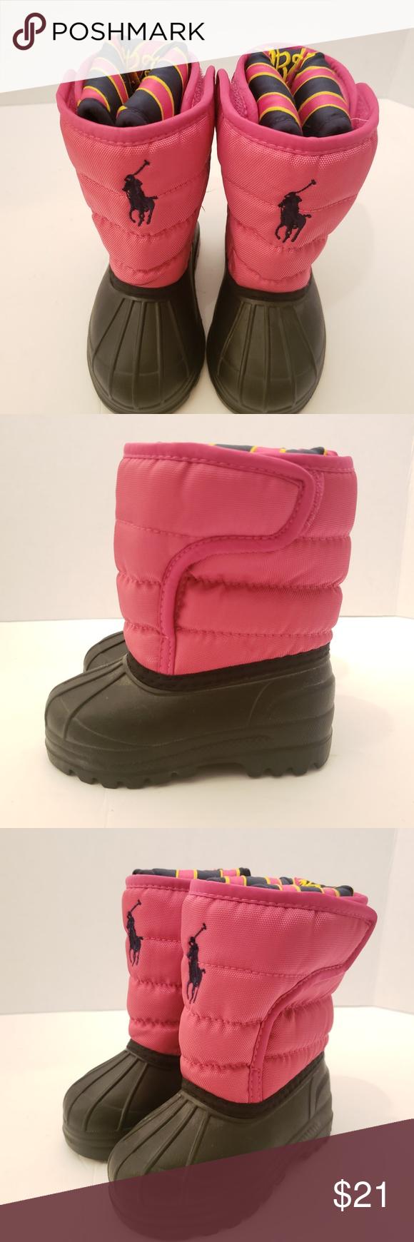 Ralph Lauren Girls Pink Duck Boots Size
