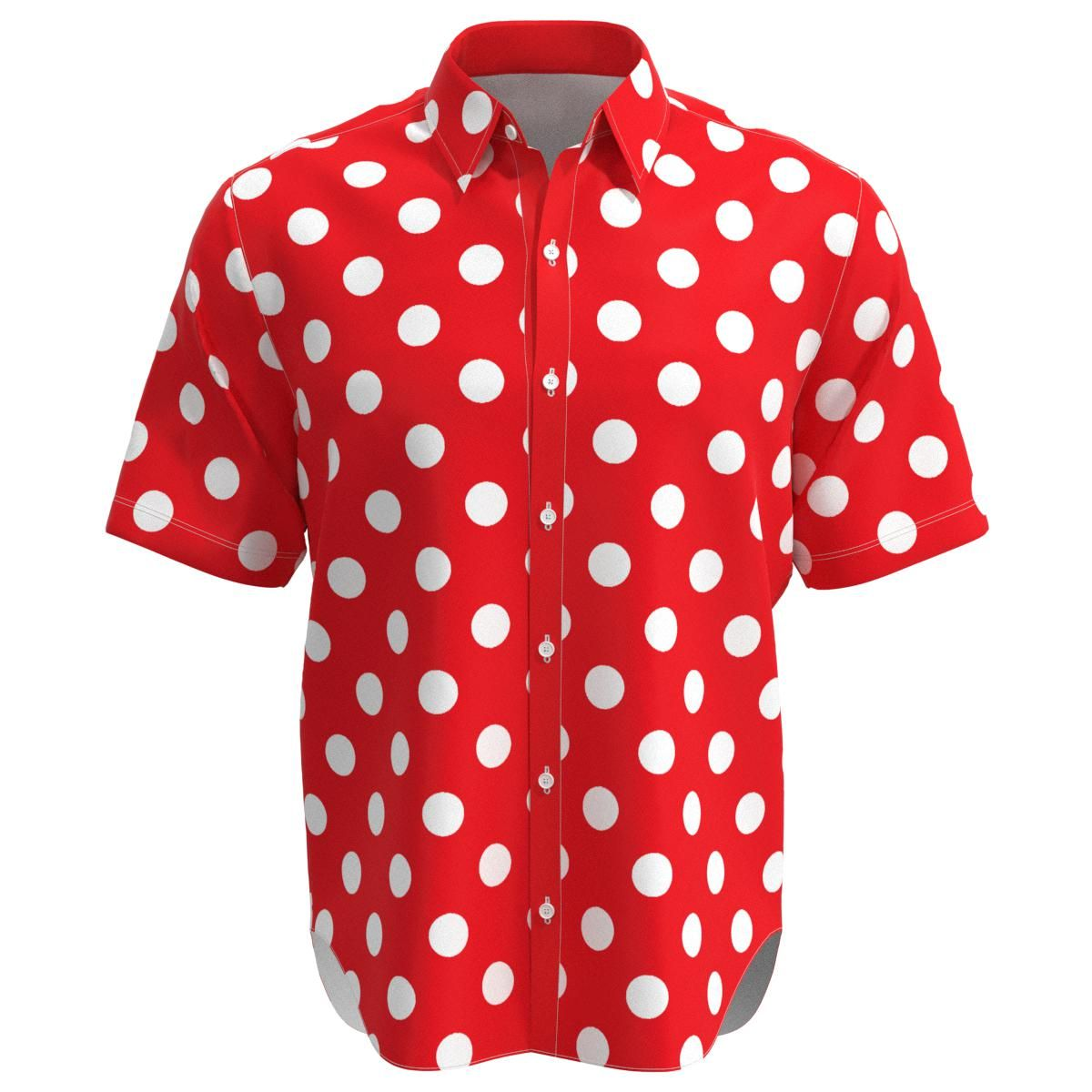 Polka Dot White And Red Bowtie  Long Sleeve Thermal