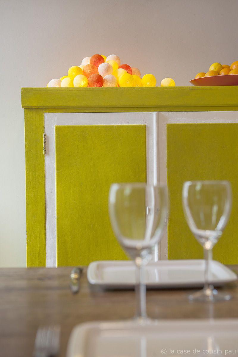 ete guirlande de 35 boules ivoire jaune clair jaune. Black Bedroom Furniture Sets. Home Design Ideas