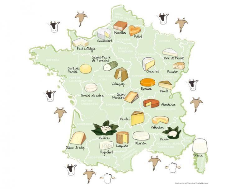 Le famiglie di formaggi in Francia