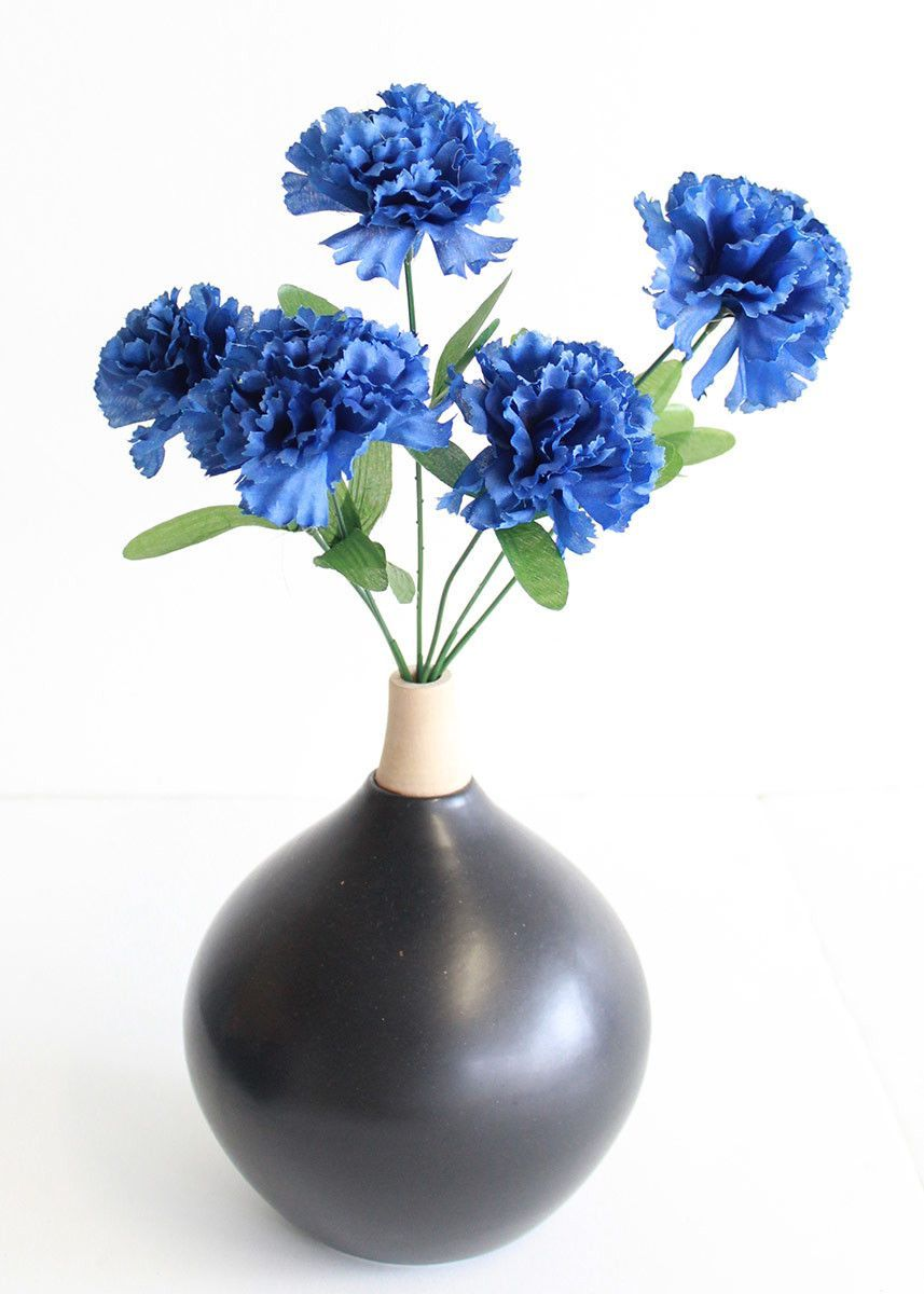 Carnation silk flower bush in blue 3 carnation silk flowers and carnation silk flower bush in blue 3 izmirmasajfo