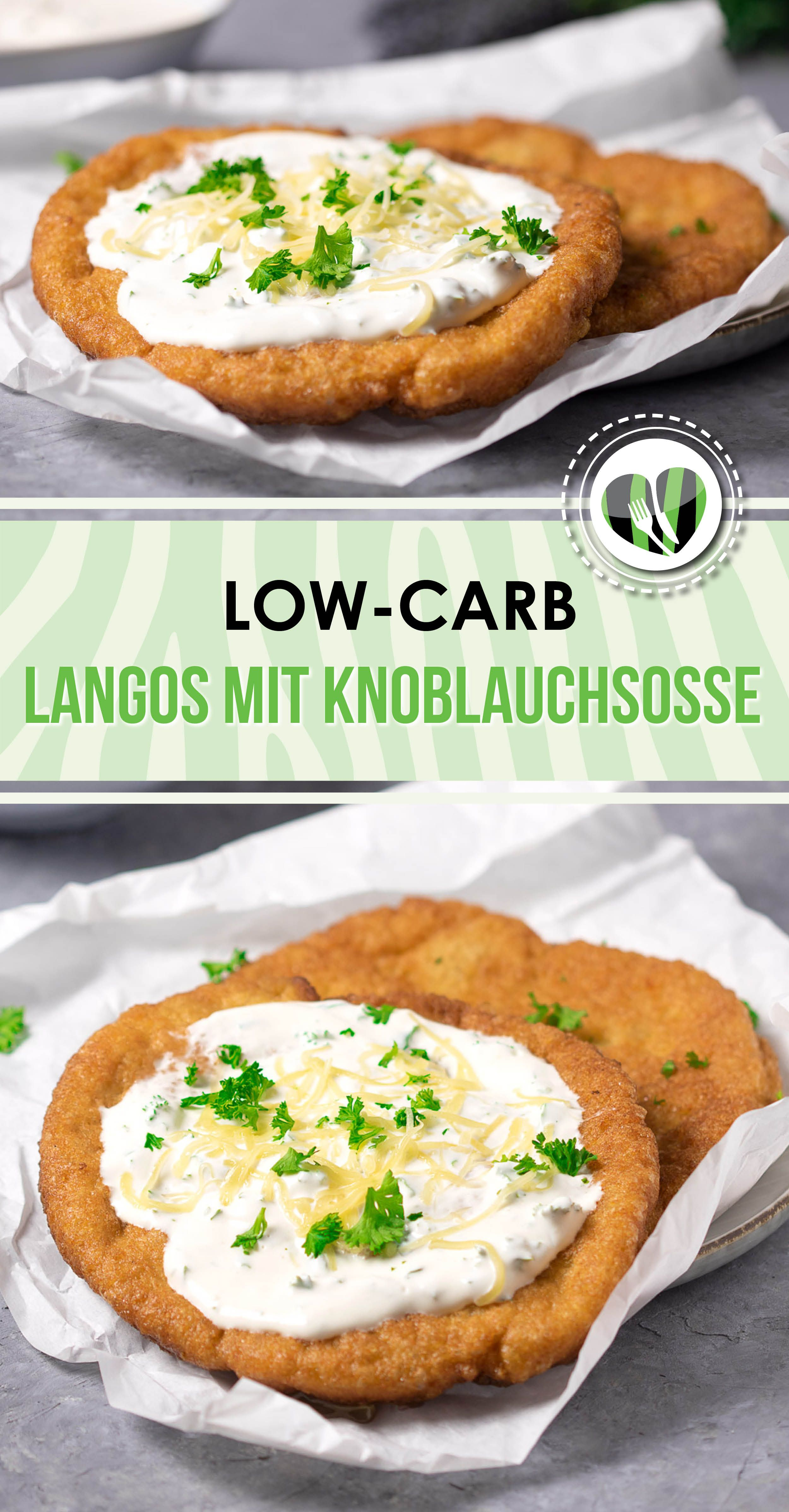 Photo of Low carb langos with garlic sauce – LCHF – KETO