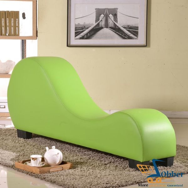 Indoor Furniture Faux Leather Stretch Chaise Relaxation