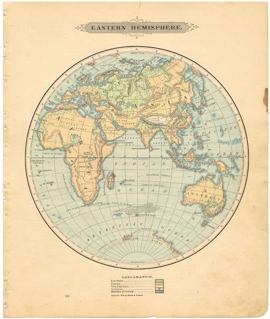 Antique Graphics Wednesday - 1900\'s Maps of the World | the whole ...