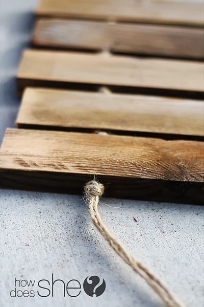 Photo of How to make a Plank Door Mat!