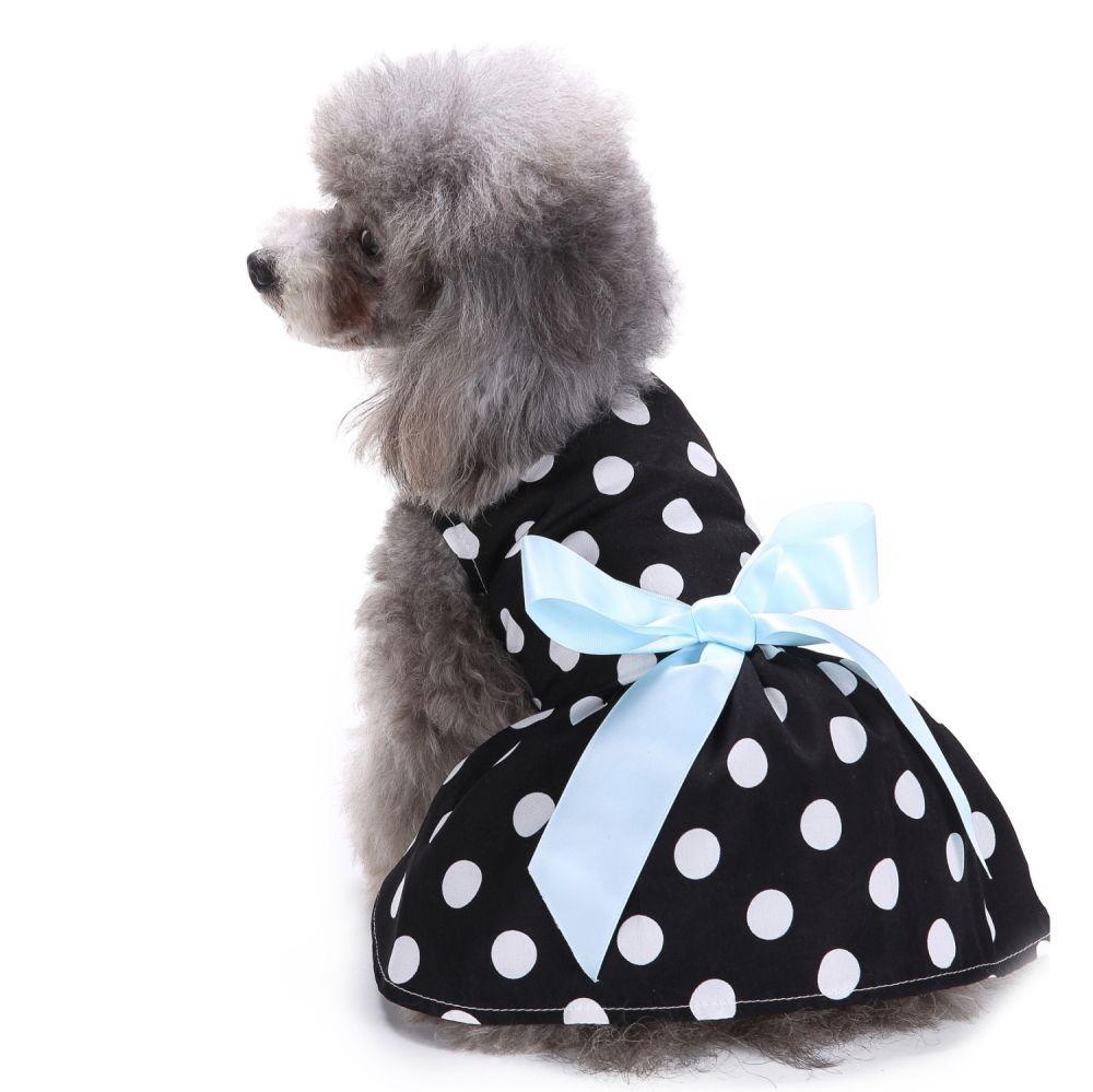 Pet Dresses Chfun Cute Polka Dot Ribbon Dog Dress Dog Clothes Cozy