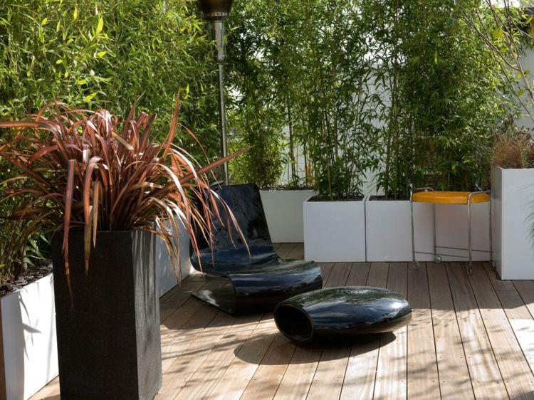 Anstatt Holzzaun - Sichtschutz aus Bambus im eigenen Garten - bambus garten design