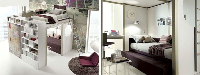 Letto a soppalco: idee per recuperare spazio in camera da letto  Articoli blog  Pinterest ...