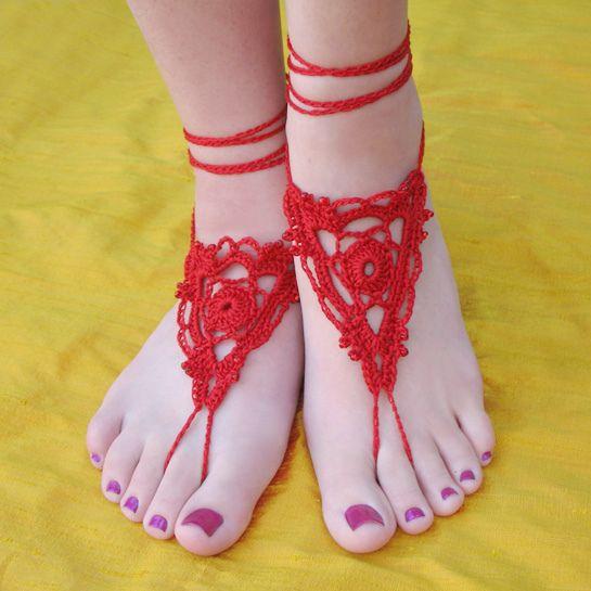 Goddess Barefoot Sandals   free pattern