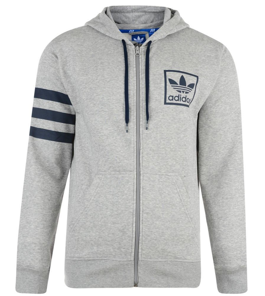 Mens New Adidas Originals 3foil Hoodie Hoody Hooded Sweatshirt Jumper Top Grey Hoodie Adidas Originals Top Grigio [ 1000 x 897 Pixel ]