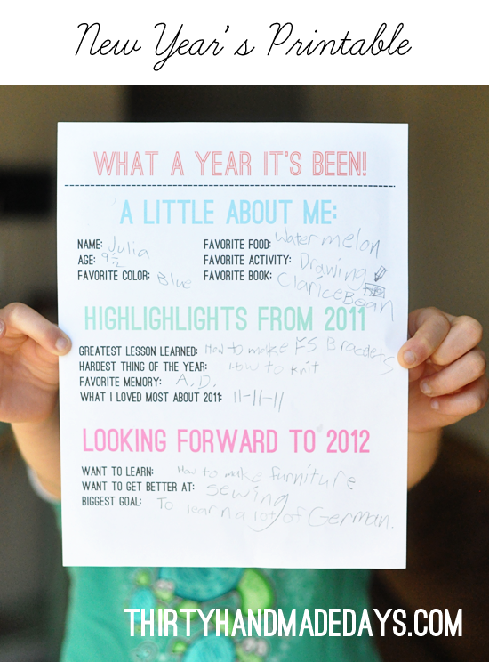 New Year Resolution Printable for Kids | Winter Projects to Make and ...