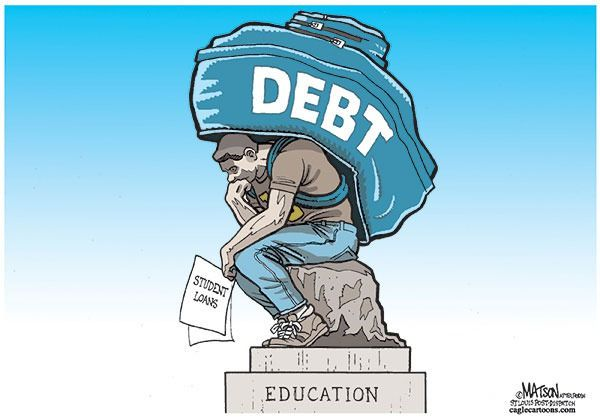 Modern Day The Thinker Student Loan Debt Medical Careers