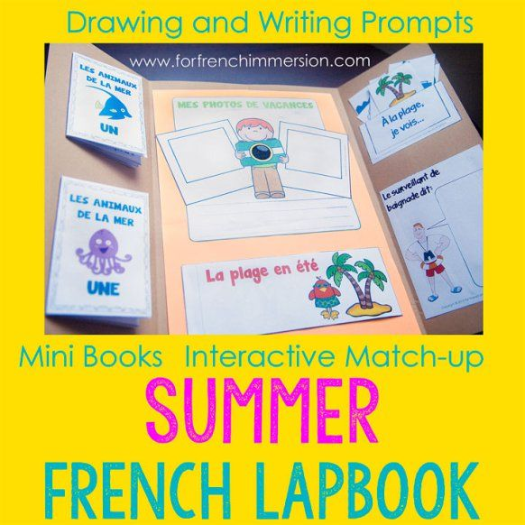 french summer lapbook french teaching french summer french immersion teaching french. Black Bedroom Furniture Sets. Home Design Ideas