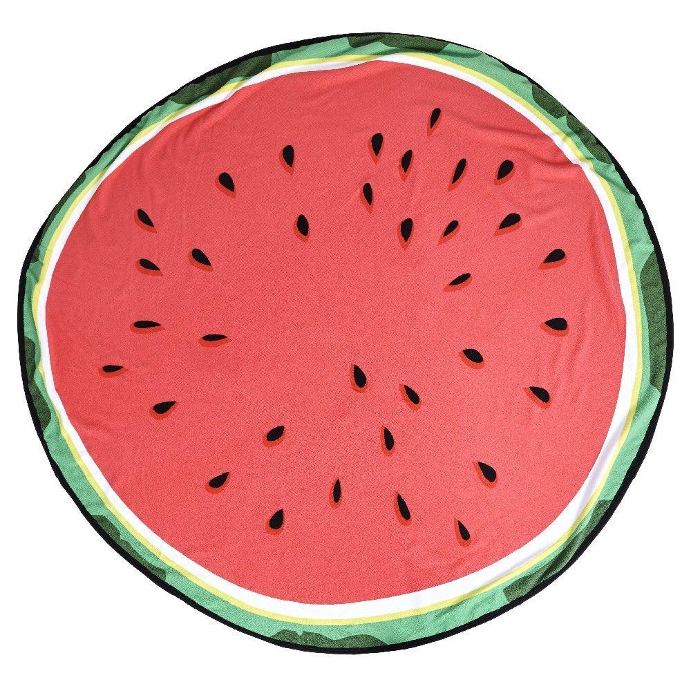 Serviette de plage ronde design pastèque | Pinterest