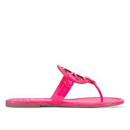 1b503db4334 Tory Burch Fluo Fuchsia Miller Flip Flop Womens Patent Leather Sandals Size  US 7.5 Regular (M