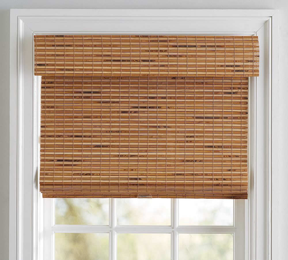 Stylish And Easy To Use This Custom Roller Shade Blocks Light While Providing Complete Privacy Designed In Colla With Images Bali Blinds Custom Roller Shades Bali Shades