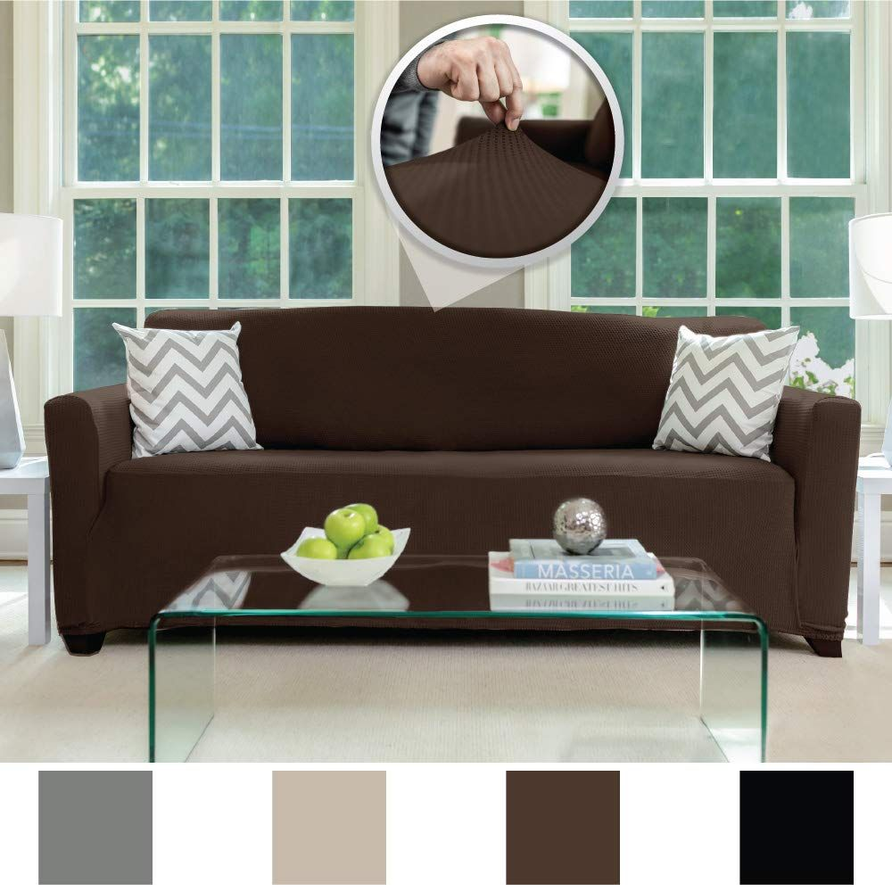 """Extra Large Sofa Slipcover With 2/"""" Str... Vailge Oversize Reversible Sofa Cover"""