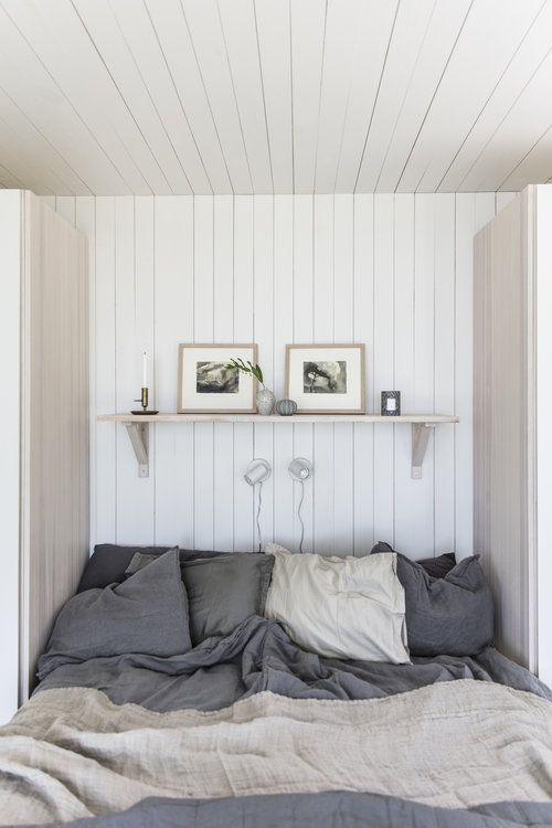 Photo of Sovrum i fritidshus från Sommarnöjen. #fritidshus #sommarhus #attefallshus #in …