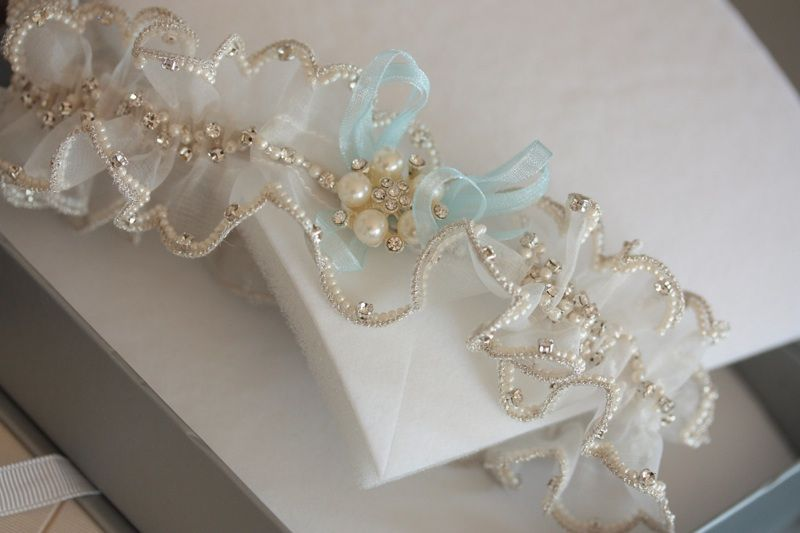 SOMETHING BLUE Bridal wedding Garter Set - MI PEARL   Bridal Garters ...
