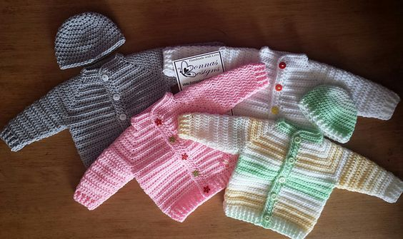 Ravelry Top Down Baby Jacket Free Crochet Pattern By Donna Wilby