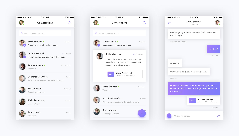 Messaging app concept full Android app design, Messaging