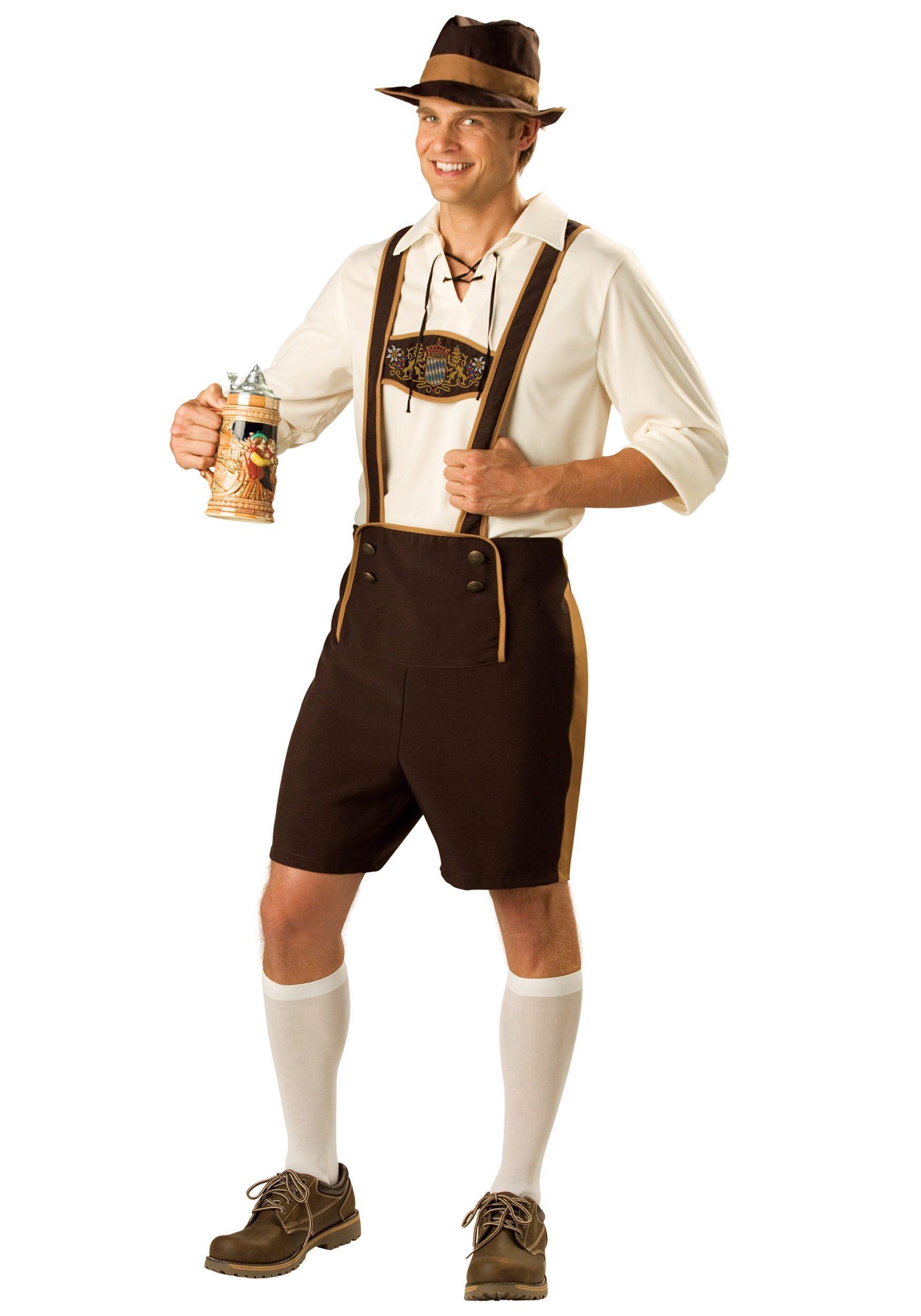 Men Oktoberfest Costume German Bavarian Lederhosen Beer Octoberfest Fancy Dress
