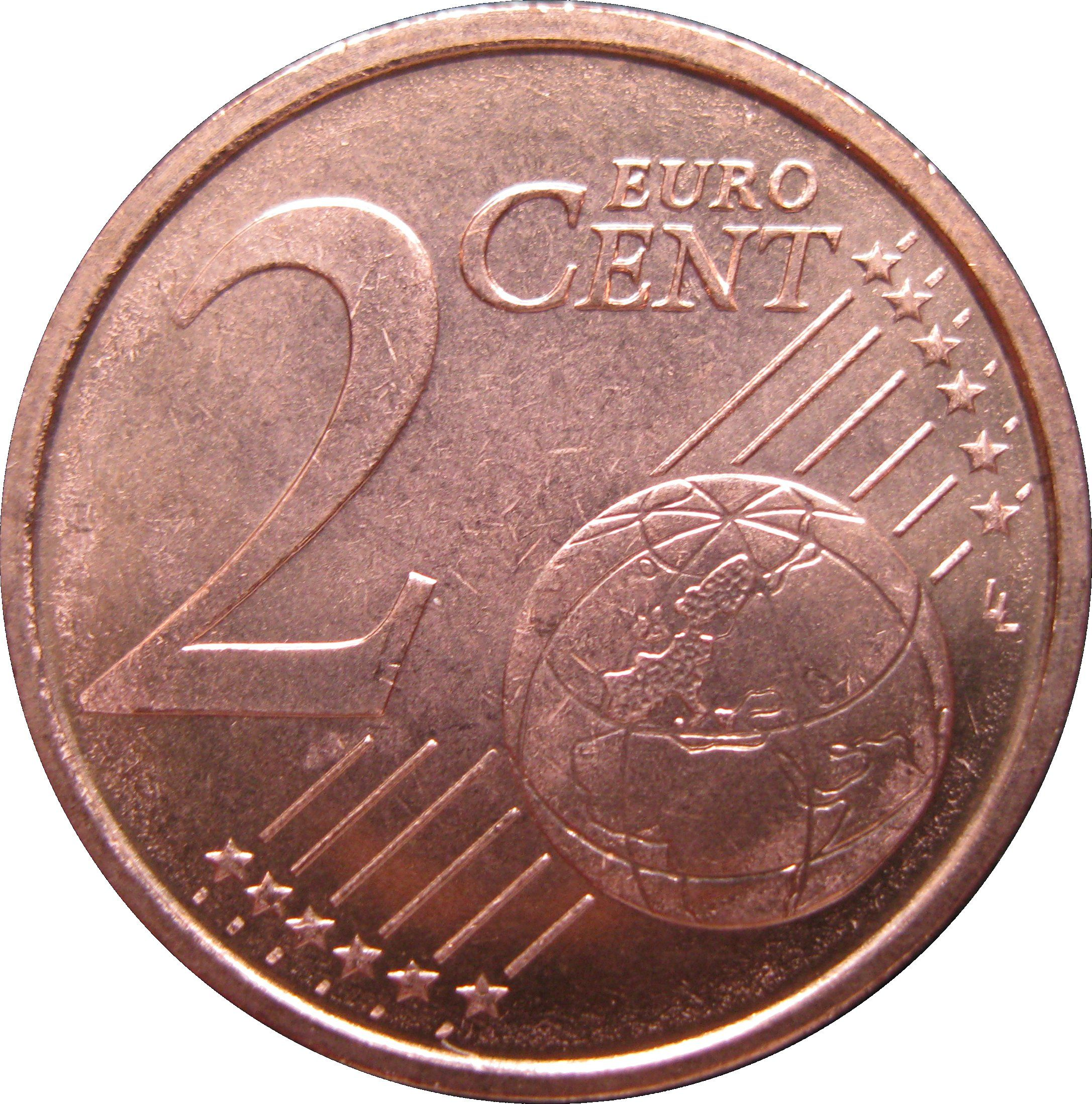 2 cent euro coin worth in america