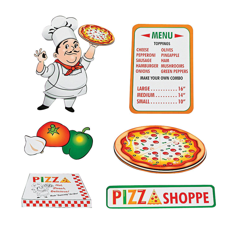 Pizza Party Cutouts - OrientalTrading.com