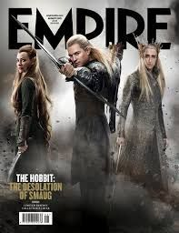 The Empire magazine cover for the Desolation of Smaug...And I just realized how long Tauriel's hair is.