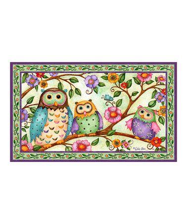 Loving this Owl Tree Doormat on #zulily! #zulilyfinds