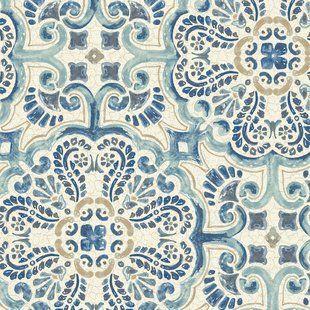 Gray Wallpaper You'll Love Wayfair Tile wallpaper