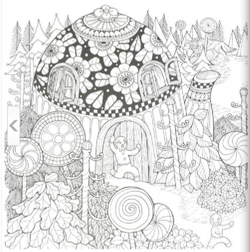 Preview Mysterious Woods Library Coloring Book Alice In Wonderland Rapunzel Gift Young AdultsColoring