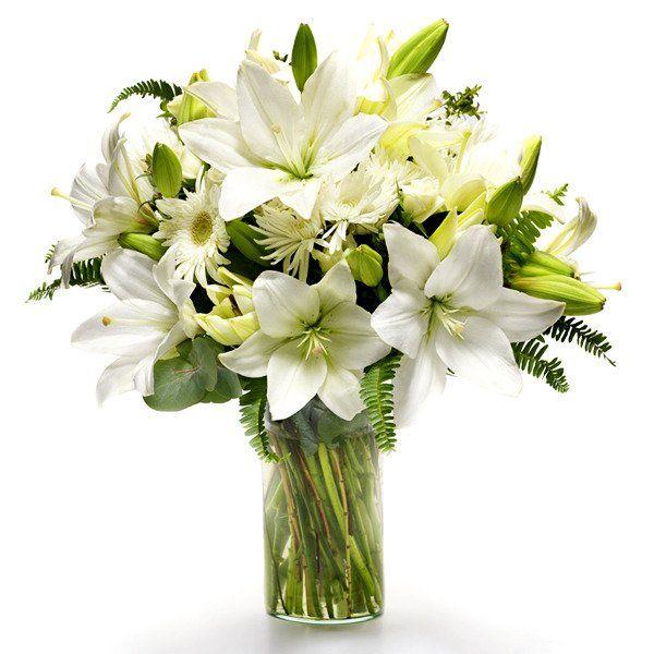 Arreglos Florales Con Lirios Blanco Principalmente Flores