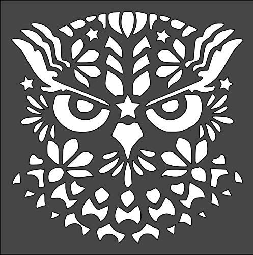 Owl Logo Stencil Reusable Sturdy Flexible Clear Plastic 1