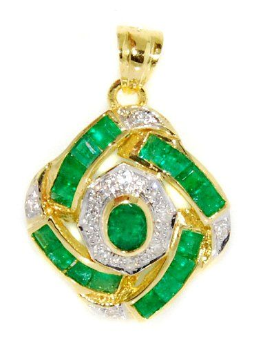 http://rubies.work/0094-ruby-rings/ Emerald Circle Pendant Genuine Diamond 18K Yellow Gold [P0092] BKGjewelry http://www.amazon.com/dp/B00CJUW6SI/ref=cm_sw_r_pi_dp_qCYkwb05RJHHZ