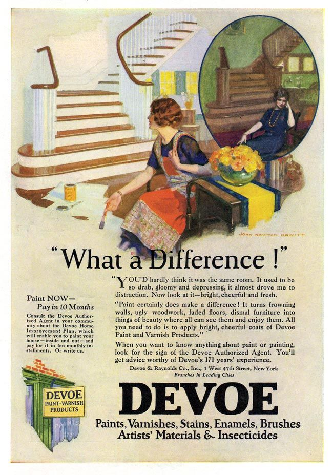 Devoe Paint And Varnish Products 1925a Advertising Vintage 1