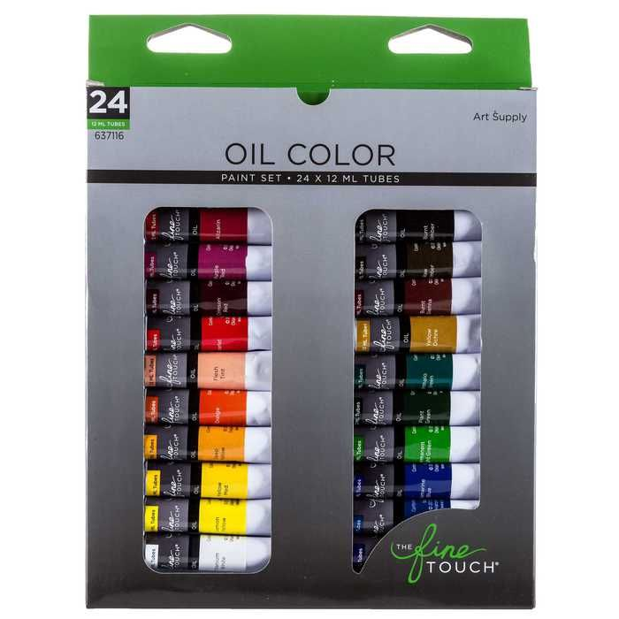 Oil Paints 24 Piece Set Oil Paint Set Paint Set Oil Painting