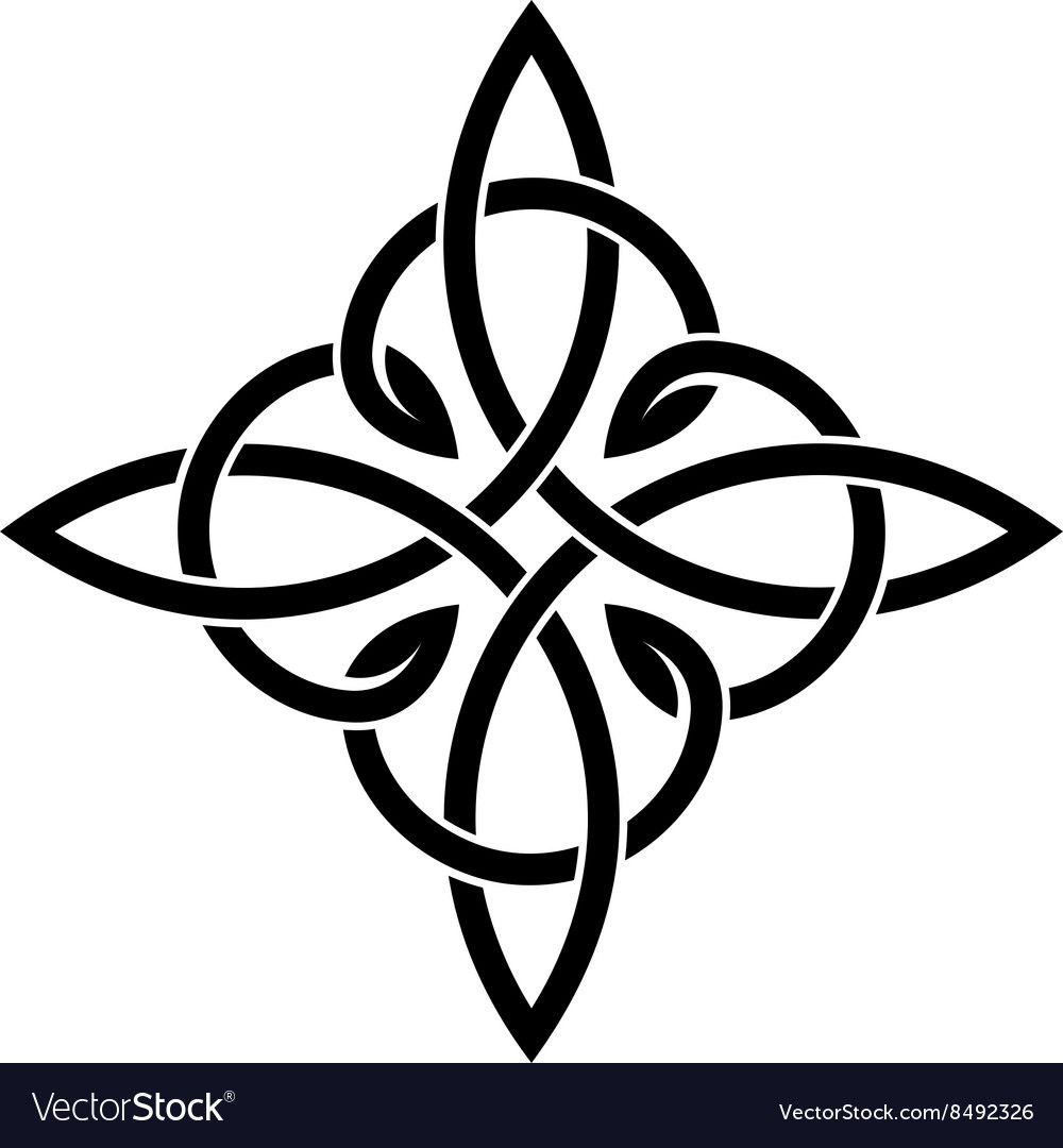 Celtic Knots Elegant Cross Weaven Tattoo Template Download A Free