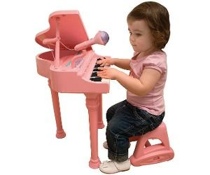 Bruin Pink Grand Piano With Stool Music Kids Music For