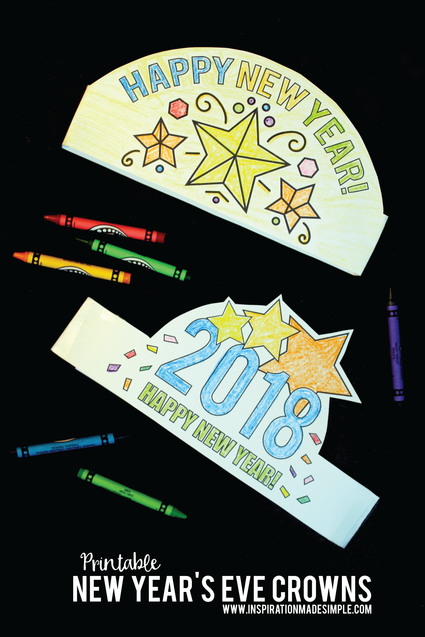 Printable New Year S Eve Crown