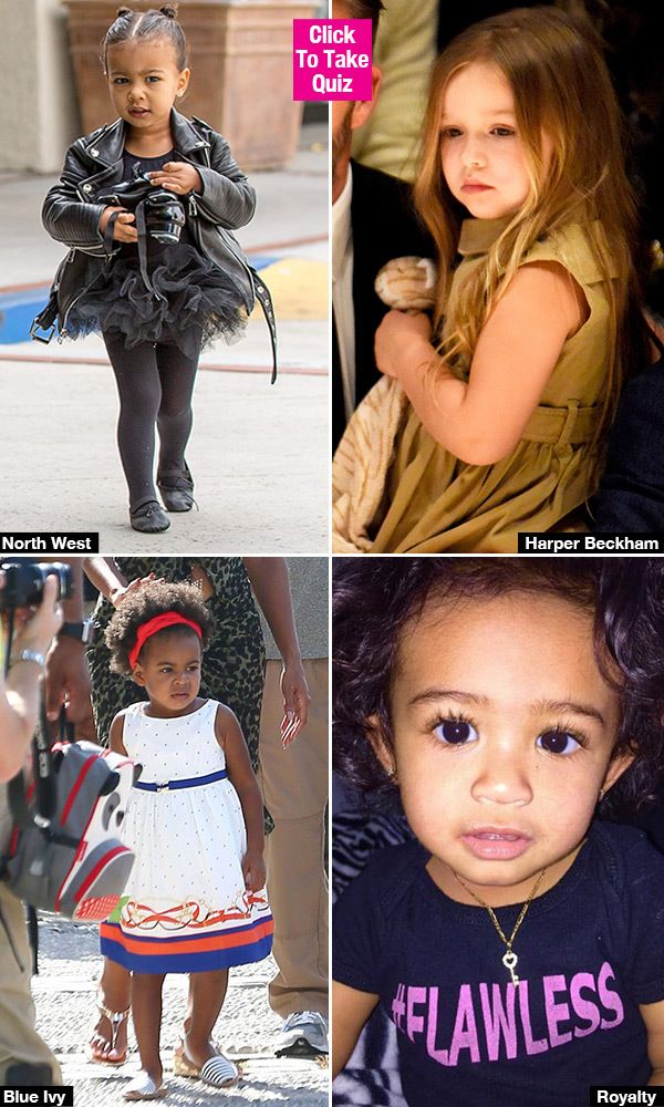 Which Celebrity Baby Is Your Spirit Animal North West Royalty More Quiz Celebrity Babies Celebrities Beyonce Style Outfits