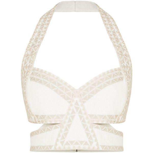 19ac933e6e8 BCBGMAXAZRIA Lace Ring ($8.99) ❤ liked on Polyvore featuring tops, crop top,