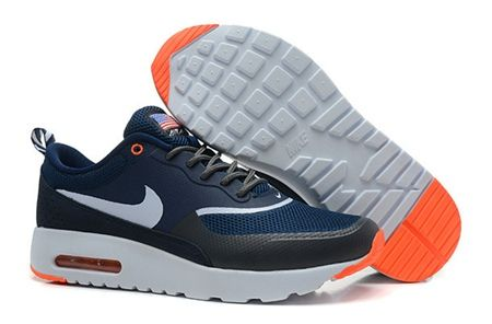 6ba81c3f11a6 Nike Air Max 90 Hyperfuse Navy Blue Orange White Men Sneakers ...